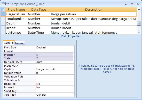 Mengenal Field Size Decimal pada Tipe Data Number di MS