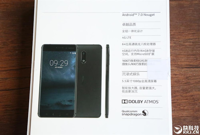Nokia 6 Box back