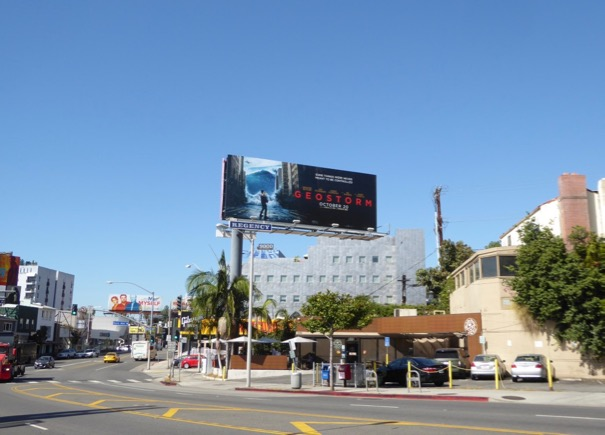Geostorm movie billboard