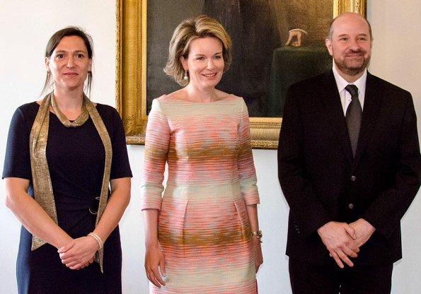 queen mathilde attends the 2017 baillet latour award