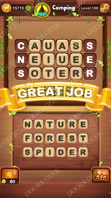 Word Bright Level 198 Answers, Cheats, Solutions, Walkthrough for android, iphone, ipad and ipod