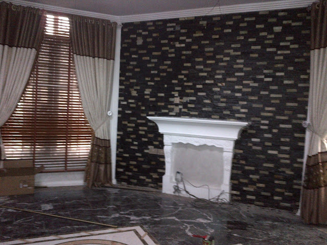 Black ledge stone
