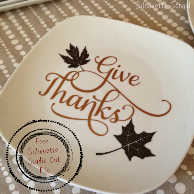 Silhouette Studio, Silhouette Cameo, free cut file, give thanks