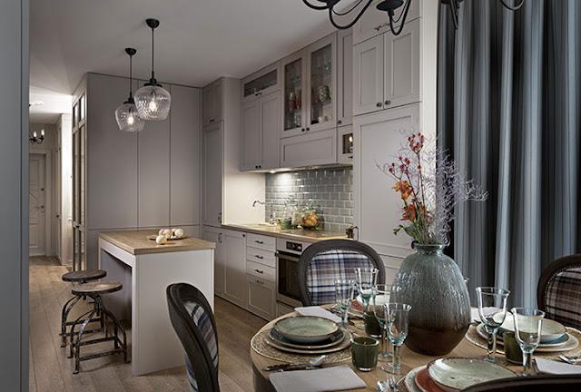 Amenajare practică, clasică și elegantă într-un apartament de numai 36 m² din Kiev