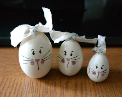 Craft Project - Bunny Wood Easter Eggs