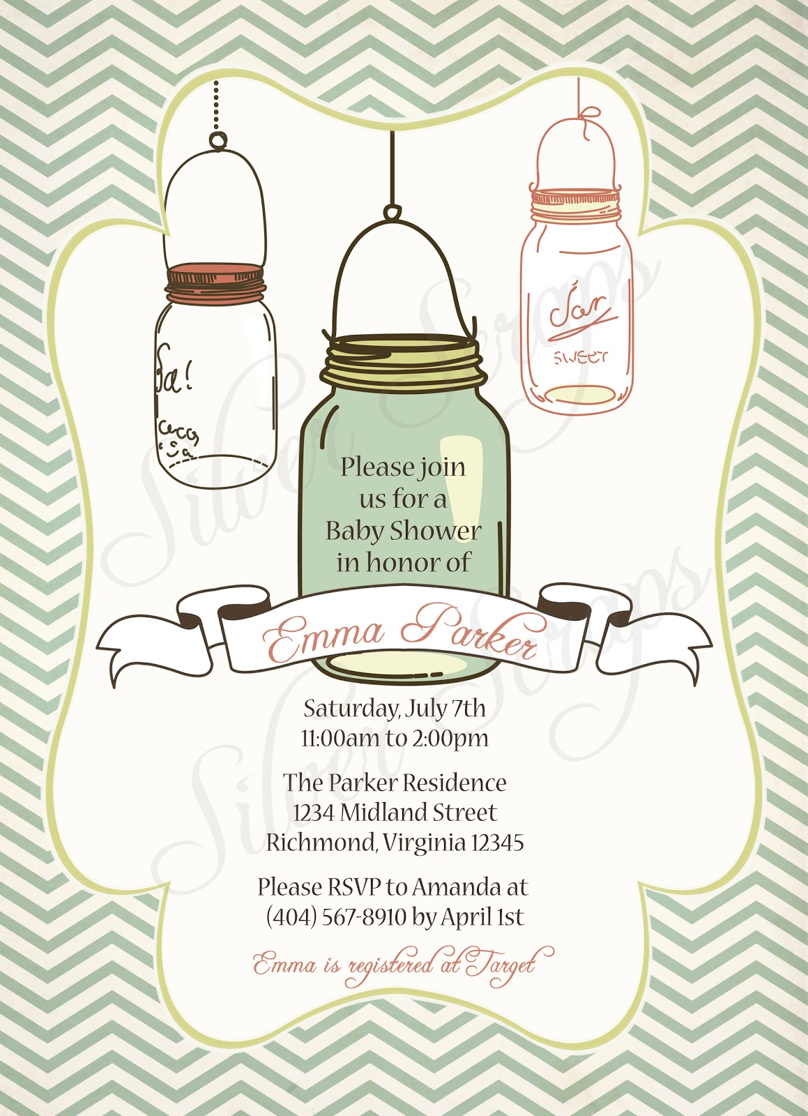 Finding Beauty In Life Vintage Mason Jar Invitations For
