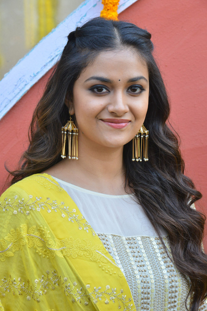 Keerthy Suresh In White Dress At East Coast Productions No -2248