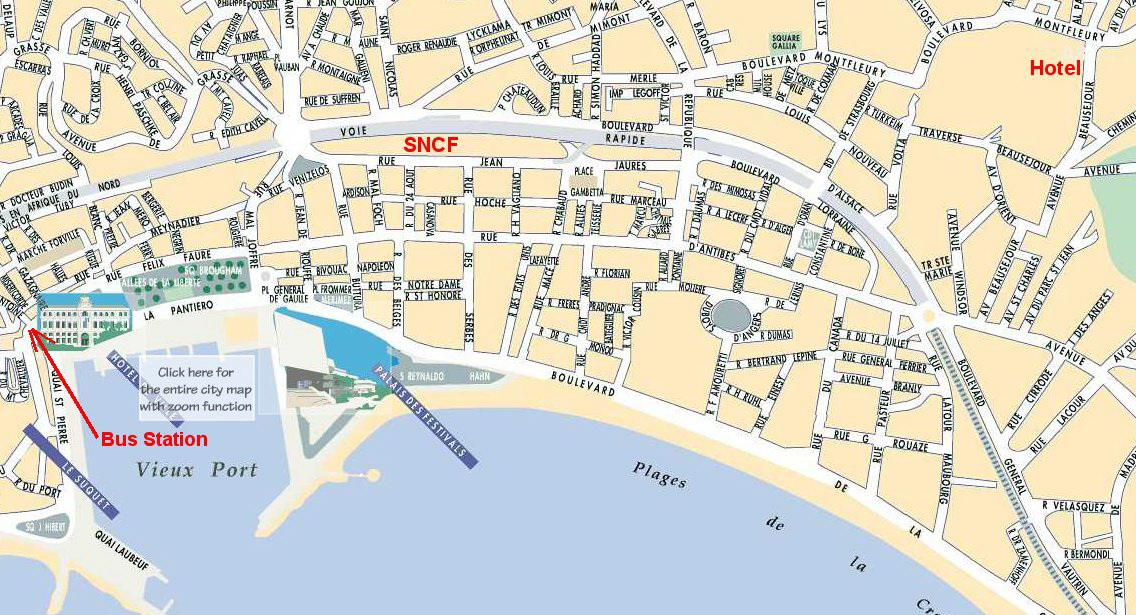 Map of Cannes, France
