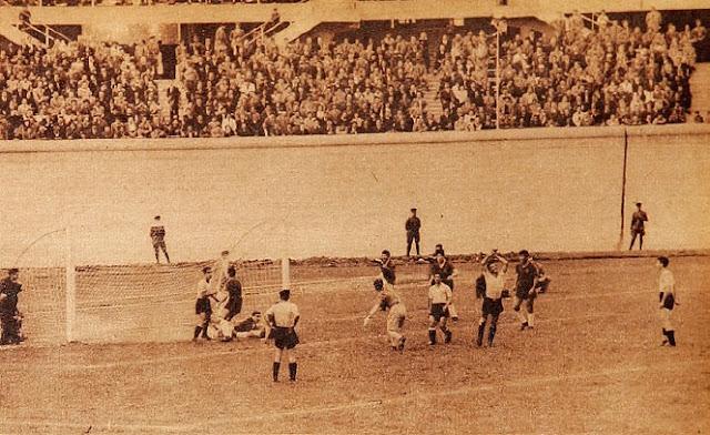 Chile y Uruguay en partido amistoso, 9 de abril de 1950