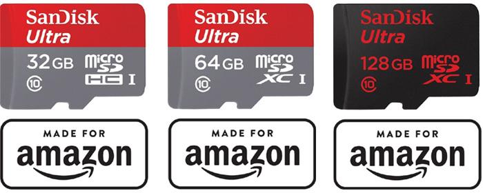 【Made for Amazon認定取得】のmicroSDHC/microSDXCカード