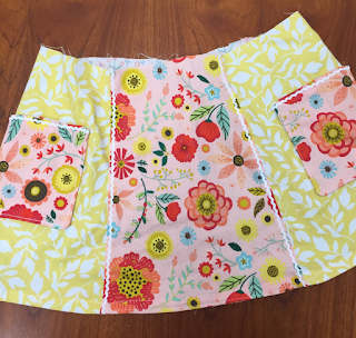handmade, kids clothes, children, slow fashion, floral, girls dresses, baby dress, baby girl, coral, yellow