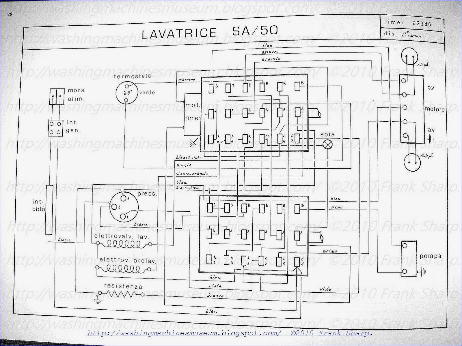 Washer Rama Museum Candy Sa50 Timer Schematic Diagram