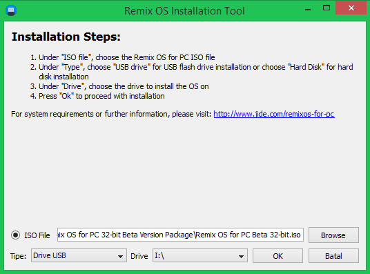 Remix OS Installation Tool