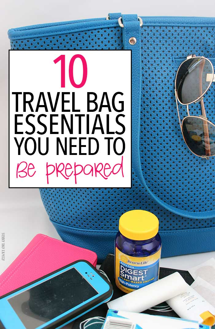 Be prepared for your next trip with these 10 travel bag essentials! This awesome packing list is perfect for day trips, long weekends, or vacations. You won't want to leave home without these supplies including one to help you #EnjoyYourFavoriteFoods while you travel. AD Family Vacation | Travel Tips | Carry On List | Packing List | Road Trip