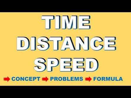 TIME, SPEED AND DISTANCE FORMULA NOTE