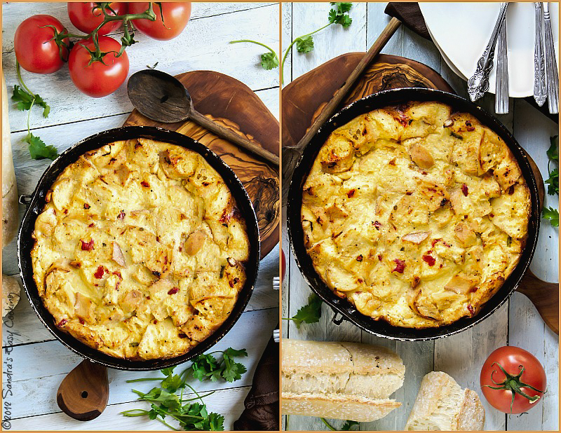 Chicken & Sun-Dried Tomatoes Clafoutis recipe