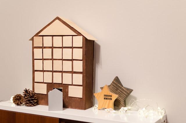 drewniany kalendarz adwentowy DIY