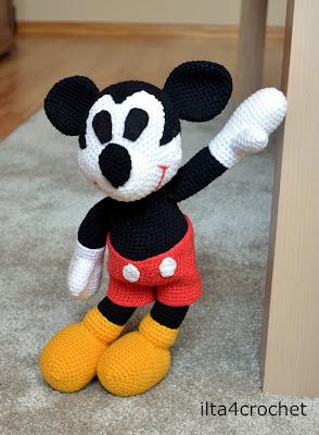 Szydełkowa Myszka Mickey – link do wzoru