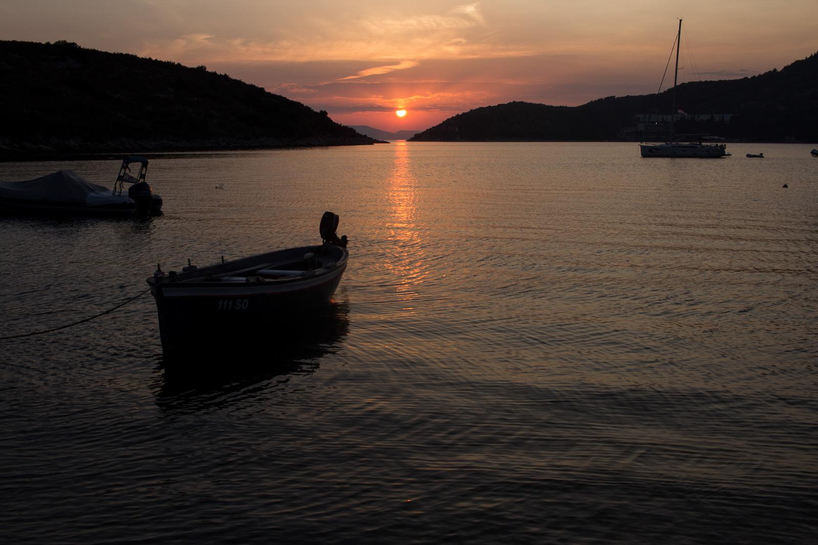 Sonnenuntergang am Meer - Slano, in der Nähe von Dubrovnik