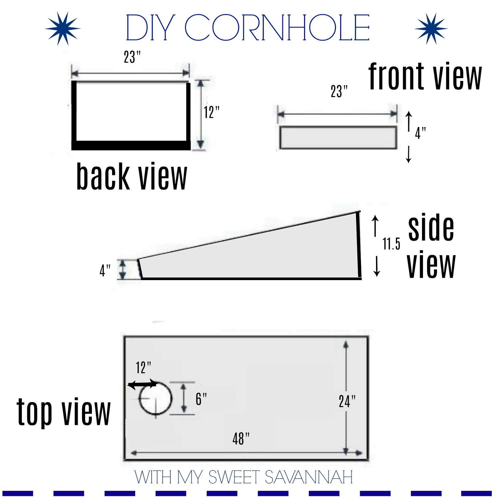 corn hole board plans below are the design plans to
