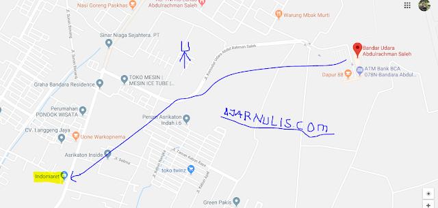 Titik Jemput Ojek Online Gojek-Grab di Bandara Abdulrachman Saleh Malang