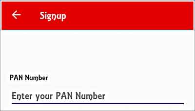 Register With Pan Card on Hamraaz Android App