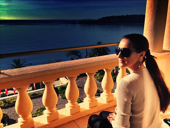 Corfu Palace hotel balcony