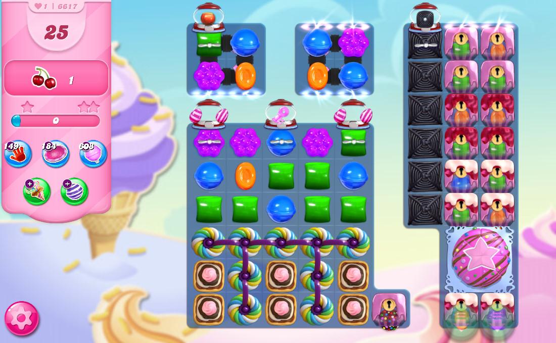 Candy Crush Saga level 6617