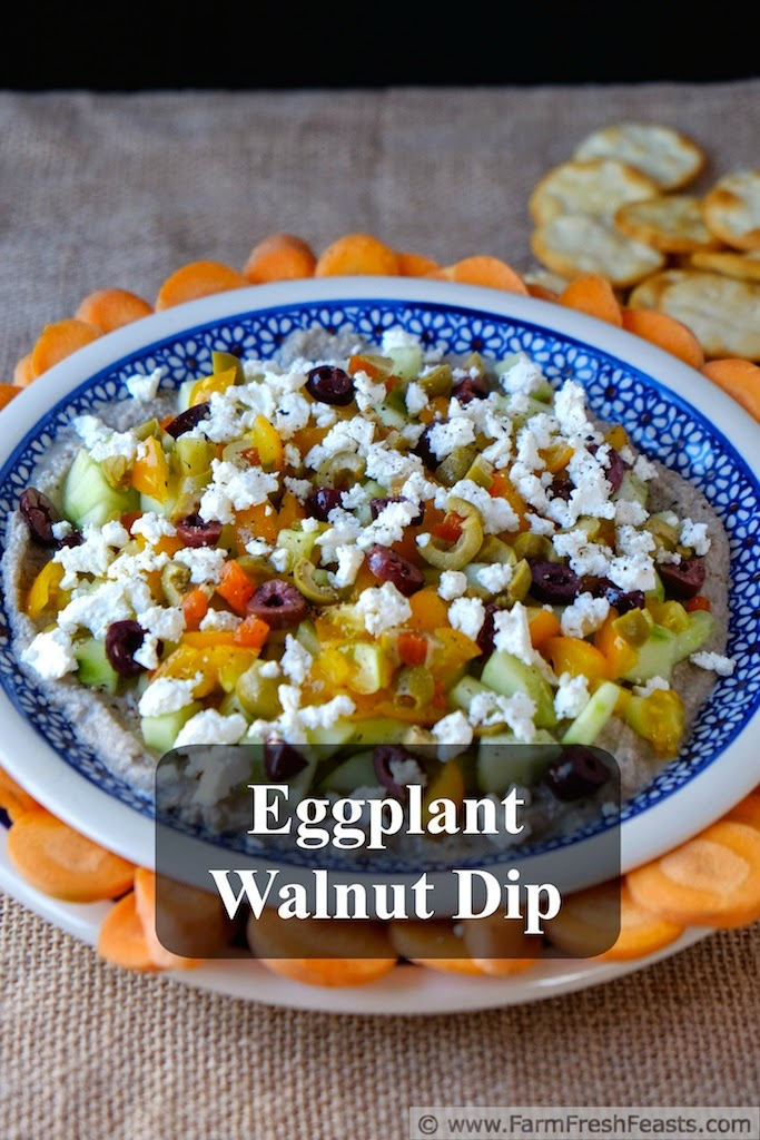 Eggplant Walnut Dip from Farm Fresh Feasts