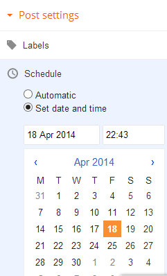 How to schedule blogger posts to publish on a later date