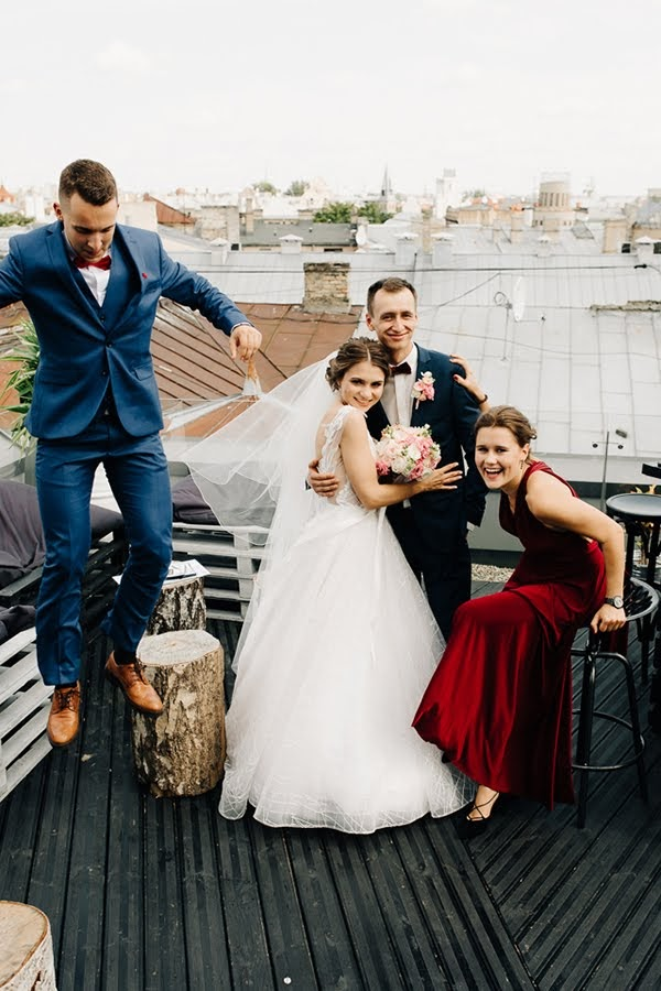 kāzas uz terases