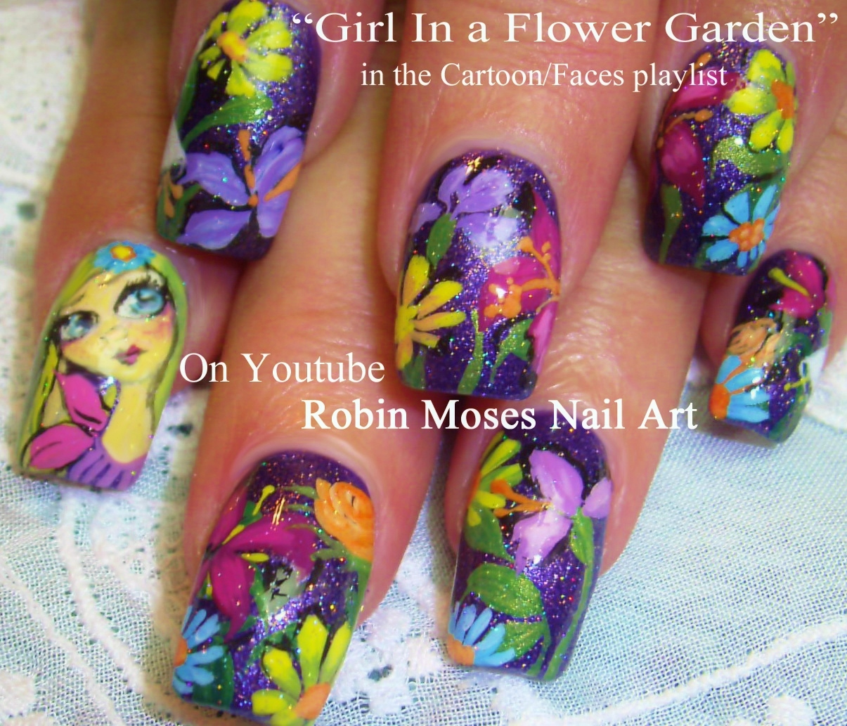 Nail Art Ideas » Mardi Gras Nail Art - Pictures of Nail Art Design Ideas