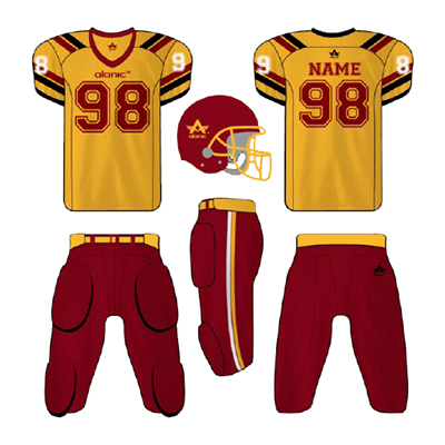 Yellow And Red American Football Apparel
