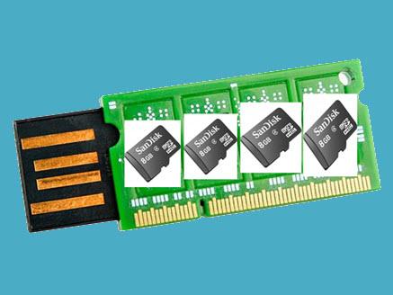 استخدام الفلاشة او الكارت ميموري كرام لزيادة سرعة الكمبيوتر