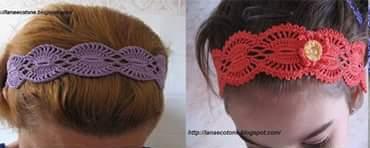 Patrón #1412: Diadema a Crochet