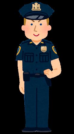 アメリカの警察官のイラスト(男性)