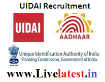 UIDAI Recruitment 2017, www.uidai.gov.in