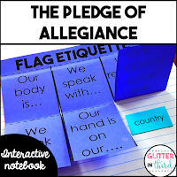 Pledge of allegiance interactive notebook activity