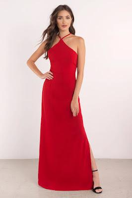 harga dan Maxi Dress langsing wanita