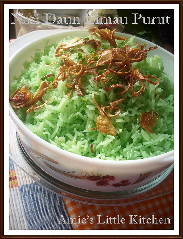 amies  kitchen nasi daun limau purut ikan siakap aroma santan Resepi Chef Kak Zaidah Enak dan Mudah
