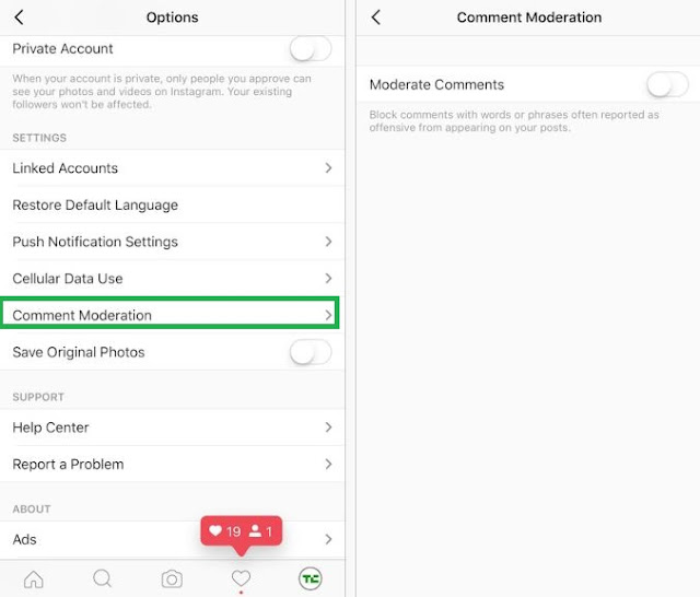 Instagram permet aux comptes pros de modérer les commentaires