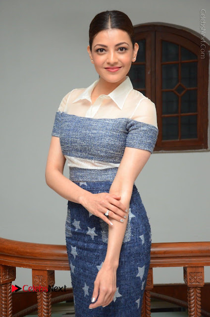 Actress Kajal Agarwal Latest Stills at Khaidi No 150 Movie Interview  0025.JPG