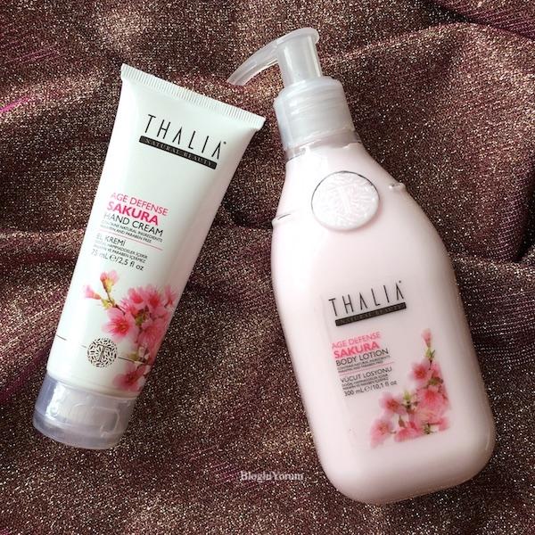 Thalia Sakura Özlü Yaşlanma Karşıtı el kremi ve Vücut Losyonu