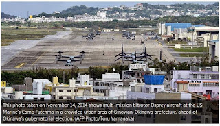 Futenma air base in Okinawa