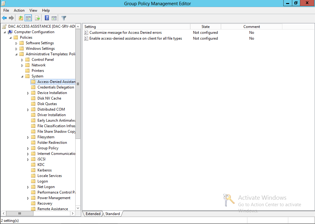 Gregory Lucand's Blog: [Windows Server 2012] DAC