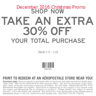 free Aeropostale coupons for december 2016