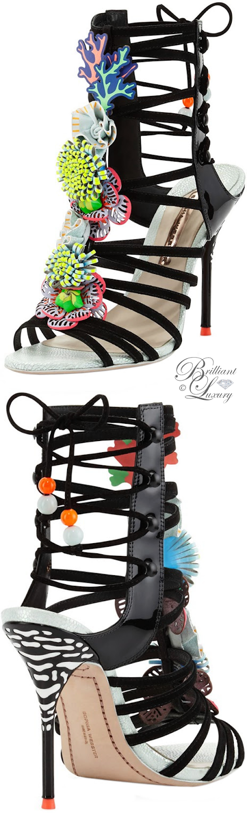 Brilliant Luxury ♦ Sophia Webster Lilico Underwater 100mm sandal