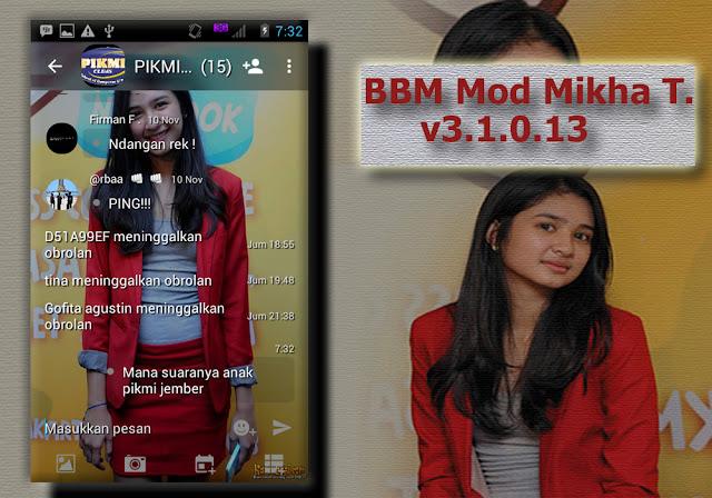 BBM Mod Mikha Tambayong Apk v3.1.0.13 Terbaru Full DP