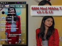 BBM Mod Mikha Tambayong Apk v3.1.0.13 Terbaru Update Gratis Free Download 2016