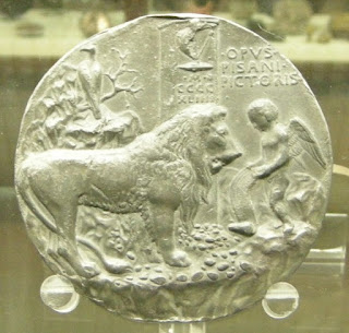 Pisanello's coin The Singing Lion, which commemorated the life of Leonello d'Este